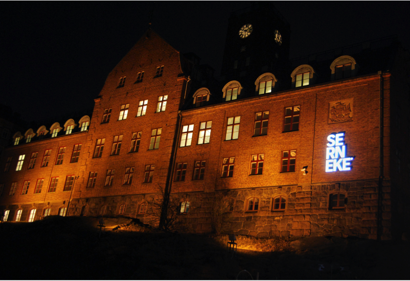 Skylt Göteborg Serneke LED-skyltar