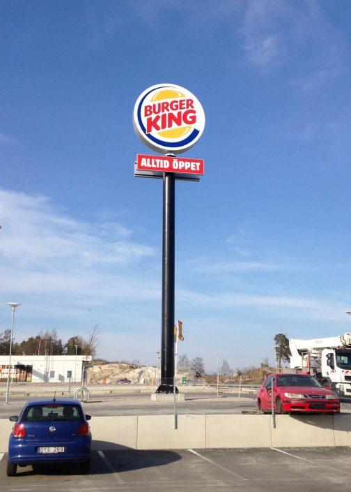 Skyltmast Burger King