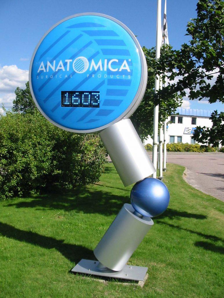 Anotomica pyloner skyltar i Stockholm av FocusNeo