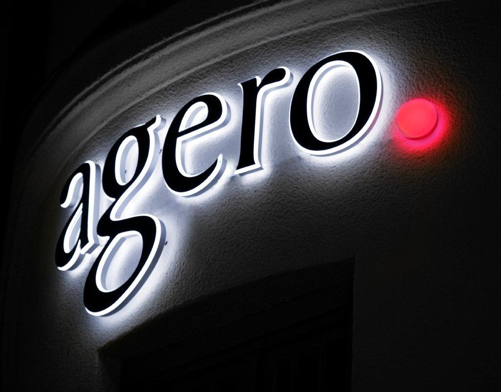 Agero fasadskylt av FocusNeo