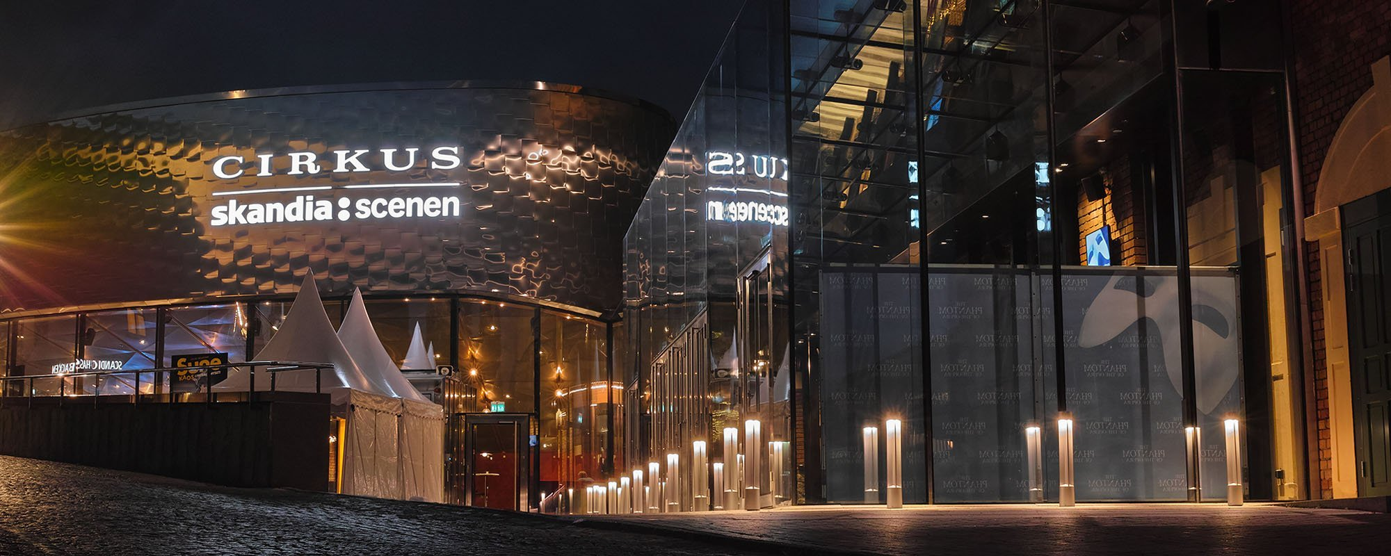 Cirkus Skandiascenen led skylt utomhus | FocusNeo
