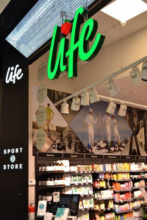 Life Mall of Scandinavia LED-bokstäver portal