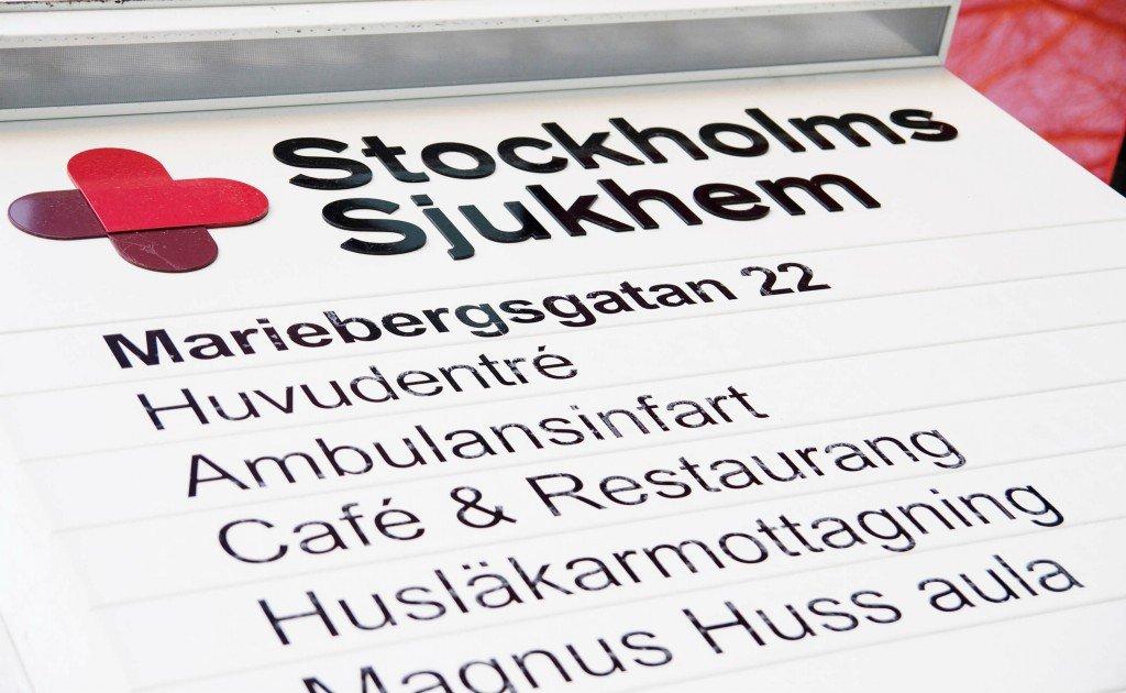 Stockholms sjukhem wayfinding hänvisningsskyltar av FocusNeo
