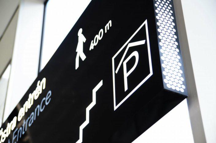 Stockholmsmässan wayfinding ljuslåda av FocusNeo i Stockholm