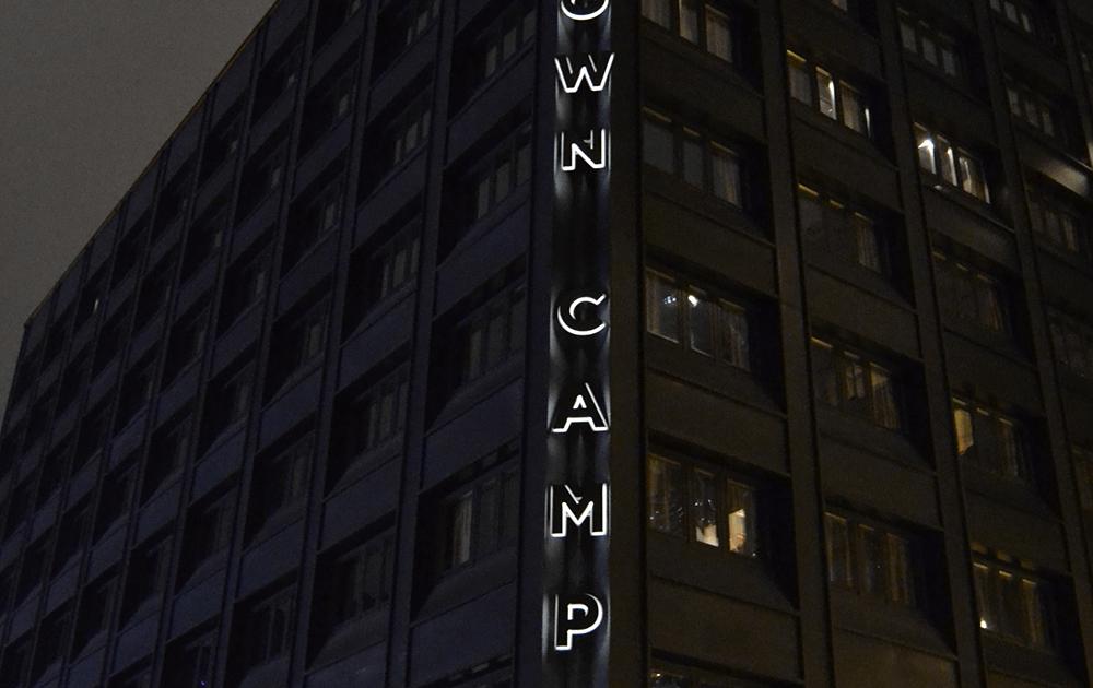 Downtown Camper Fasadskylt