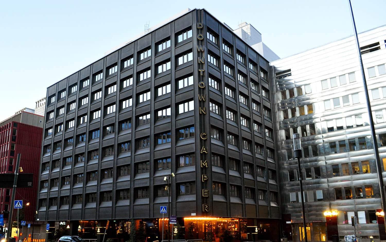 Downtown Camper by Scandic fasadskylt Årets skylt Svenska skyltpriset