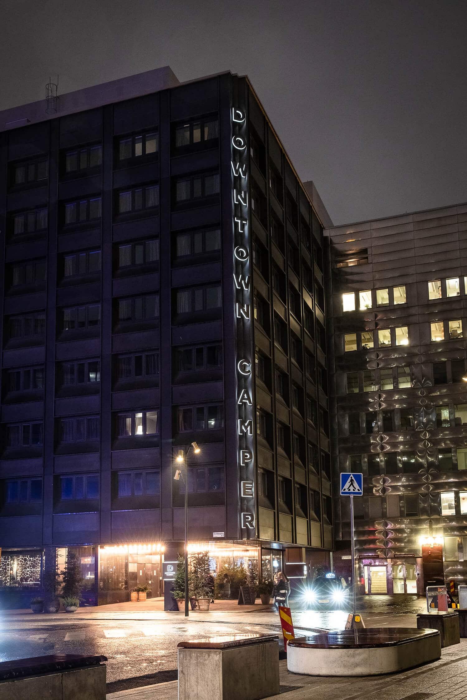 DowntownCamper fasadskylt Svenska Skyltpriset