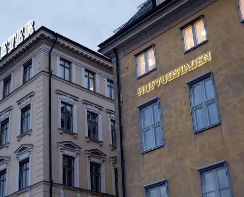 Hufvudstaden skyltar i Stockholm av FocusNeo